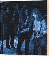 Outlaws #25 Crop 2 Blue Wood Print