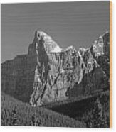 1m3621-bw-outlier Of  Mt. Murchison  Wood Print