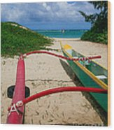 Outrigger Beach Wood Print