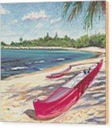 Outrigger - Haleiwa Wood Print