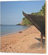 Outrigger On Cola Beach Wood Print