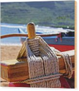 Outrigger Rigging Wood Print