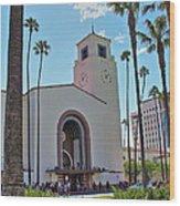 Outside Los Angeles Union Station Wood Print
