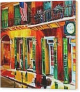 Outside Pat O'brien's Bar Wood Print