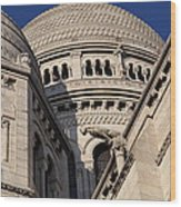 Outside The Basilica Of The Sacred Heart Of Paris - Sacre Coeur - Paris France - 011310 Wood Print by DC Photographer