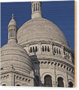Outside The Basilica Of The Sacred Heart Of Paris - Sacre Coeur - Paris France - 01138 Wood Print by DC Photographer
