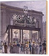 Outside The Theatre Royal, Drury Lane Wood Print