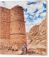 Outside The Walls Of Historic Saint Catherine's Monastery - Egypt Wood Print by Mark E Tisdale