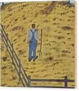Outstanding In His Field Wood Print