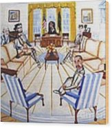 Oval Office Ghost With President Obama  Wood Print