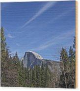 Over Half Dome Wood Print