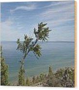 Over Lake Michigan Wood Print