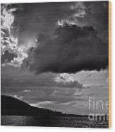 Over Lake Winnipesaukee Wood Print