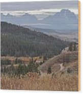 Over Looking Grand Tetons Wood Print