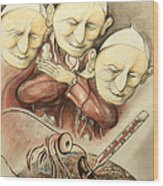 Over-pope-ulation - Cartoon Art Wood Print