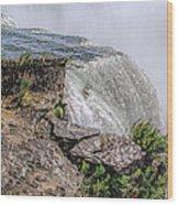 Over The Edge Niagara Falls Wood Print