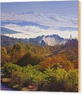 Over The Fog. Trossachs National Park. Scotland Wood Print by Jenny Rainbow