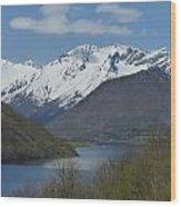 Over The Hjorundfjord Wood Print