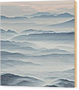 Over The Misty Mountains Wood Print