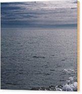 Over The Ocean Wood Print