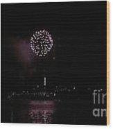 Over The River Wood Print by Melissa Lightner