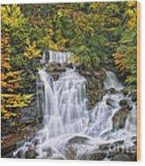 Over The Rocks Wood Print