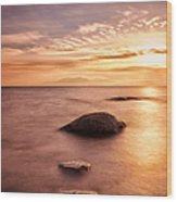 Over The Sea To Arran Wood Print by John Farnan