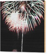 4th Of July Fireworks 4 Wood Print by Howard Tenke