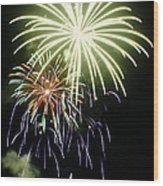 4th Of July Fireworks 5 Wood Print