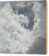 Overcast In Arizona Wood Print