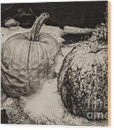 Overdue Fall Feast Remains Wood Print