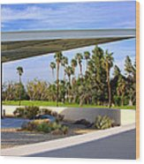 Overhang Palm Springs Tram Station Wood Print by William Dey