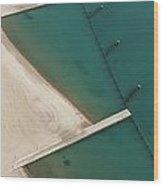 Overhead Beach Wood Print