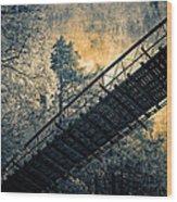Overhead Bridge Wood Print