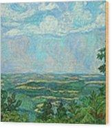 Overlook Near Peaks Of Otter Wood Print