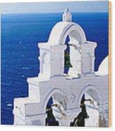 Overlooking Aegean Wood Print