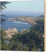 Overlooking Carmel Beach Wood Print