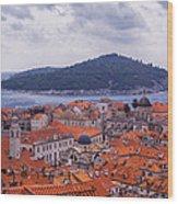 Overlooking Dubrovnik Wood Print