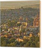 Overlooking San Miguel De Allende Wood Print