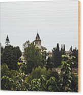 Overlooking The Alhambra On A Rainy Day - Granada - Spain Wood Print