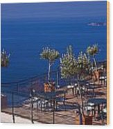 Overlooking Tyrrhenian Sea Wood Print