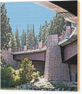 Healy Bridge Over Deschutes River Wood Print