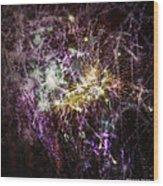 Overprinted Fireworks Wood Print