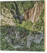 Overview Of Plitvice Wood Print