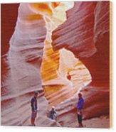 Overwhelmed In Lower Antelope Canyon-az Wood Print