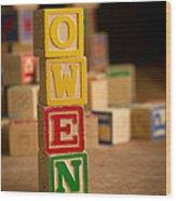 Owen - Alphabet Blocks Wood Print
