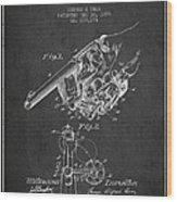 Owen Revolver Patent Drawing From 1899- Dark Wood Print