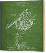 Owen Revolver Patent Drawing From 1899- Green Wood Print
