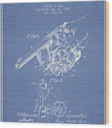 Owen Revolver Patent Drawing From 1899- Light Blue Wood Print