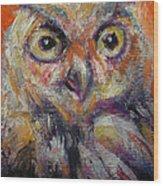Owl Aceo Wood Print